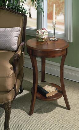 Holden Collection 0992024 Accent Table with Traditional Style  Round Shape  Medium Density Fiberboard (MDF) and Rubberwood Solids in Plantation