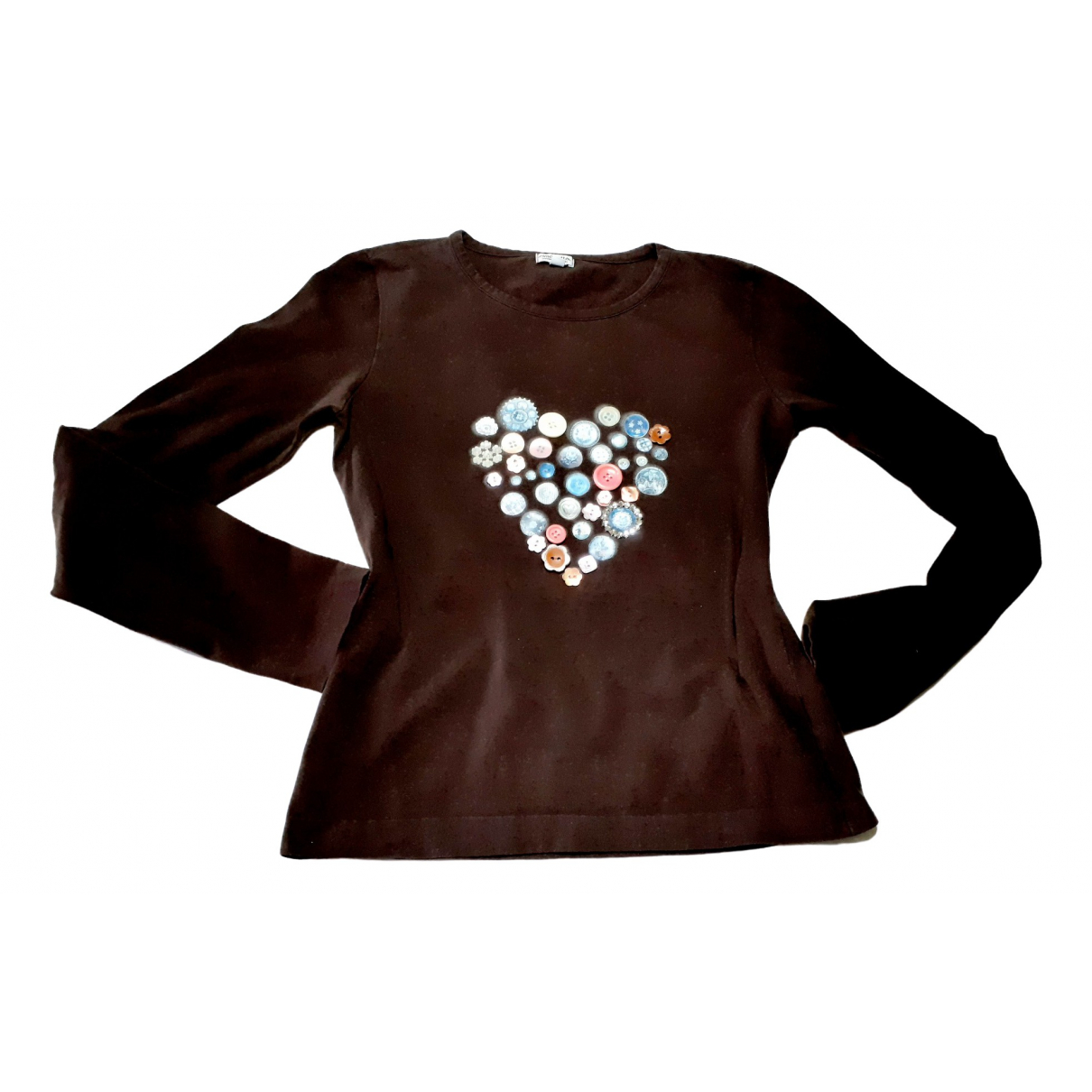 Simonetta - Top   pour femme en coton - marron