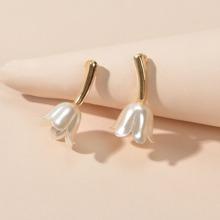 1 Paar Ohrringe mit Blumen Design