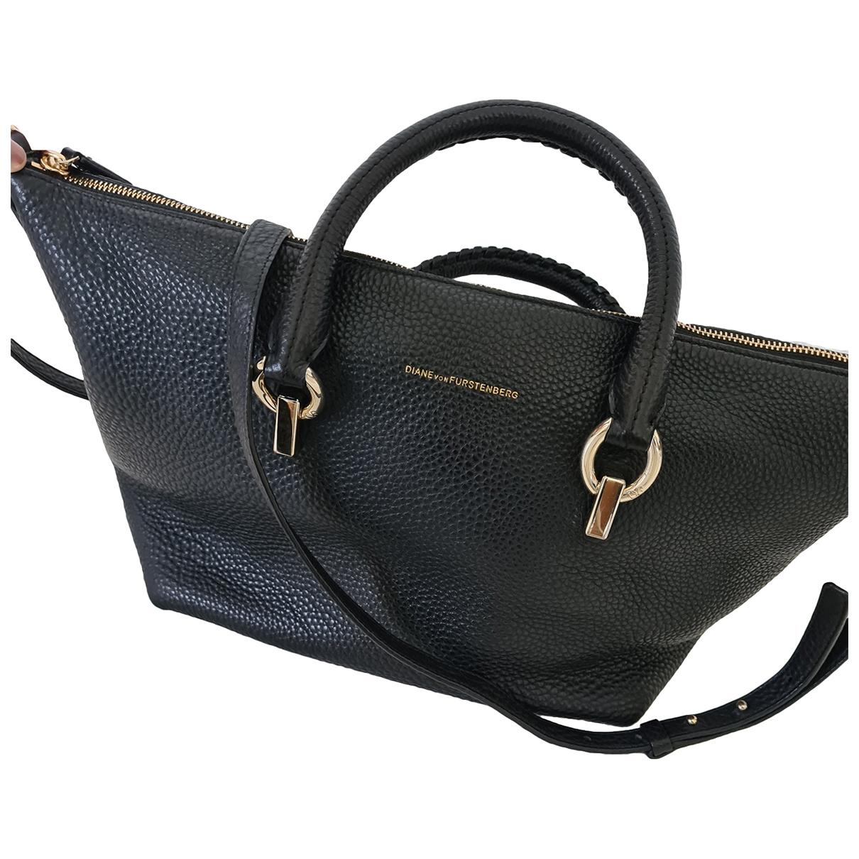Diane Von Furstenberg \N Black Leather handbag for Women \N