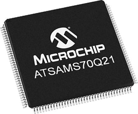 Microchip ATSAMS70Q21A-AN, 32bit Microcontroller, ATSAM, 300MHz, 2.048 MB Flash, 144-Pin LQFP (60)
