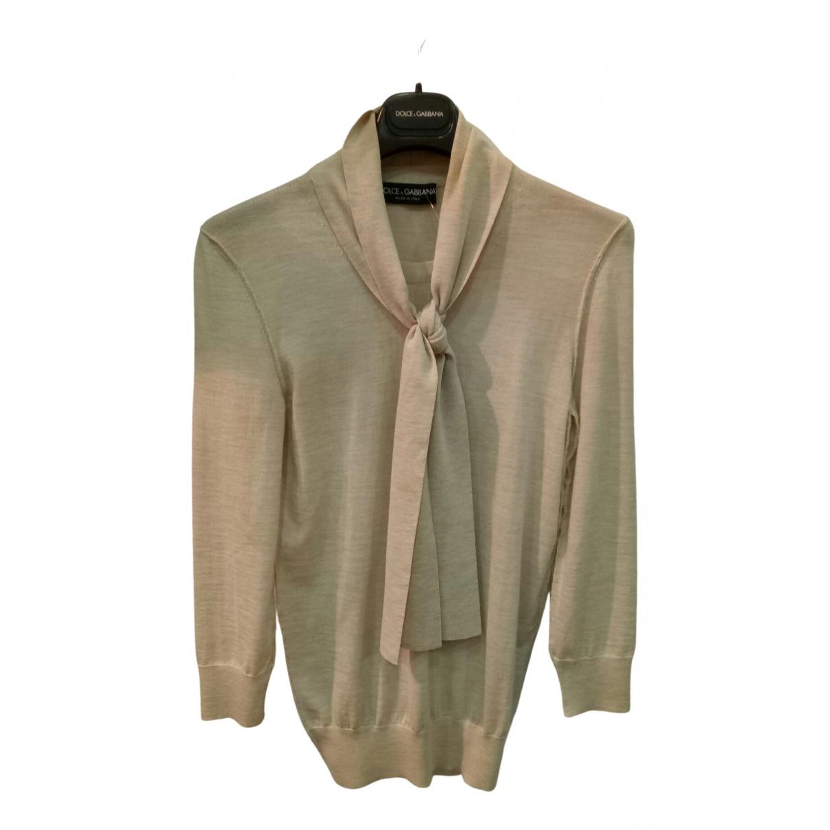 Dolce & Gabbana - Pull   pour femme en laine - beige