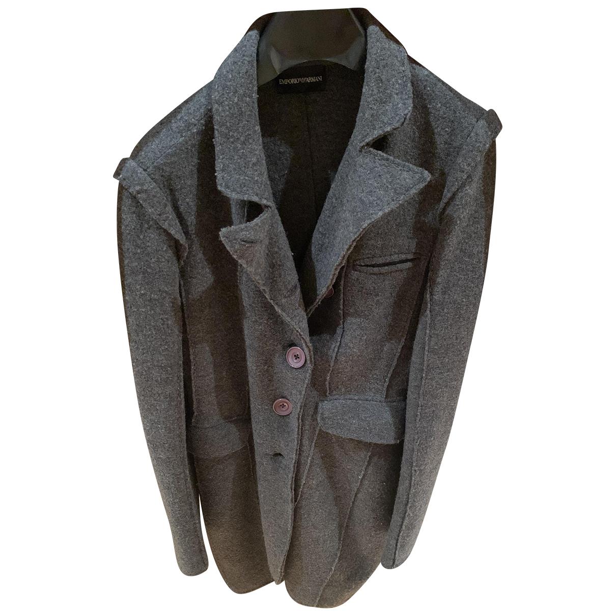 Emporio Armani N Grey Wool coat for Women 36 FR