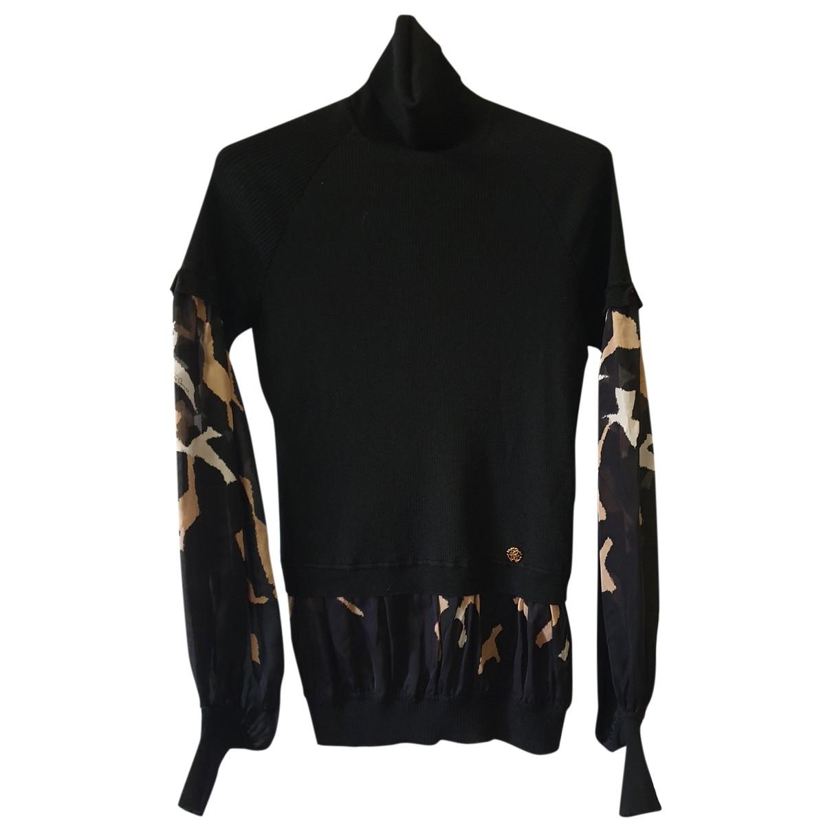 Roberto Cavalli - Pull   pour femme en laine - noir
