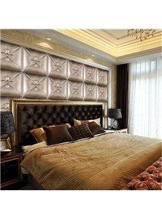 Super Cool Silver Three-dimensional Plaid Pattern Bedroom Decoration Wall Murals