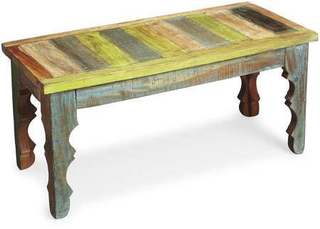 Rao Collection 1882290 Bench with Traditional Style  Rectangular Shape and Wood Material in Artifacts