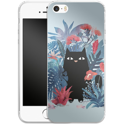 Apple iPhone 5 Silikon Handyhuelle - Popoki Blue von Little Clyde