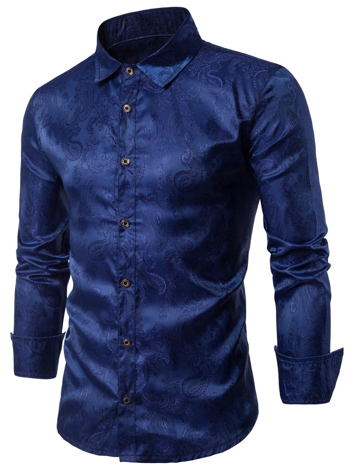 Casual Long Sleeve Paisley Vintage Shirt