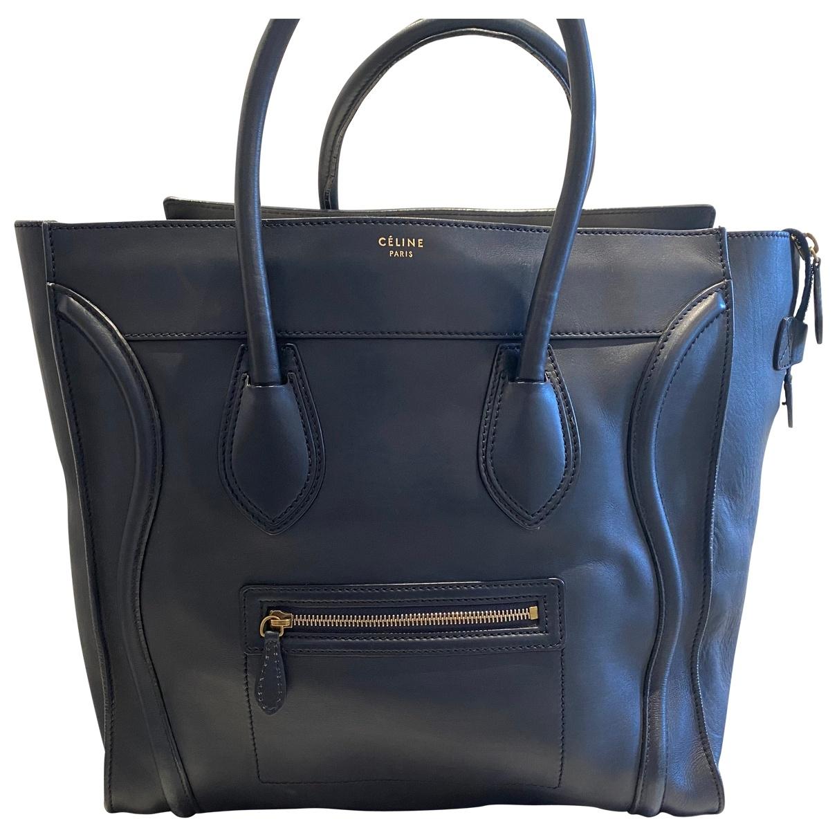 Celine Luggage Navy Leather handbag for Women \N