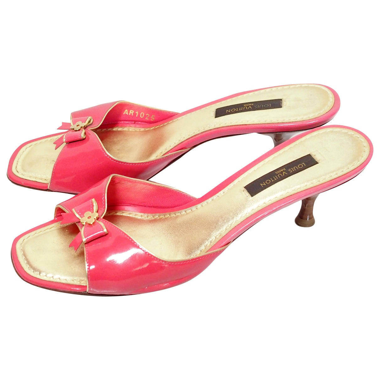 Louis Vuitton \N Pink Patent leather Sandals for Women 36.5 EU