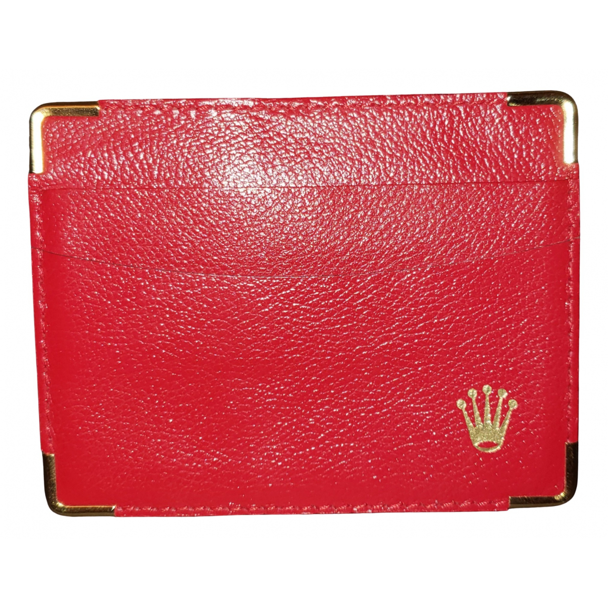 Rolex \N Red Leather Small bag, wallet & cases for Men \N