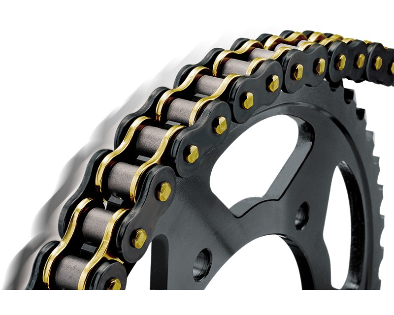 Bikemaster 520x120 BMZR Series Motorcycle Chain Black/Gold Finish