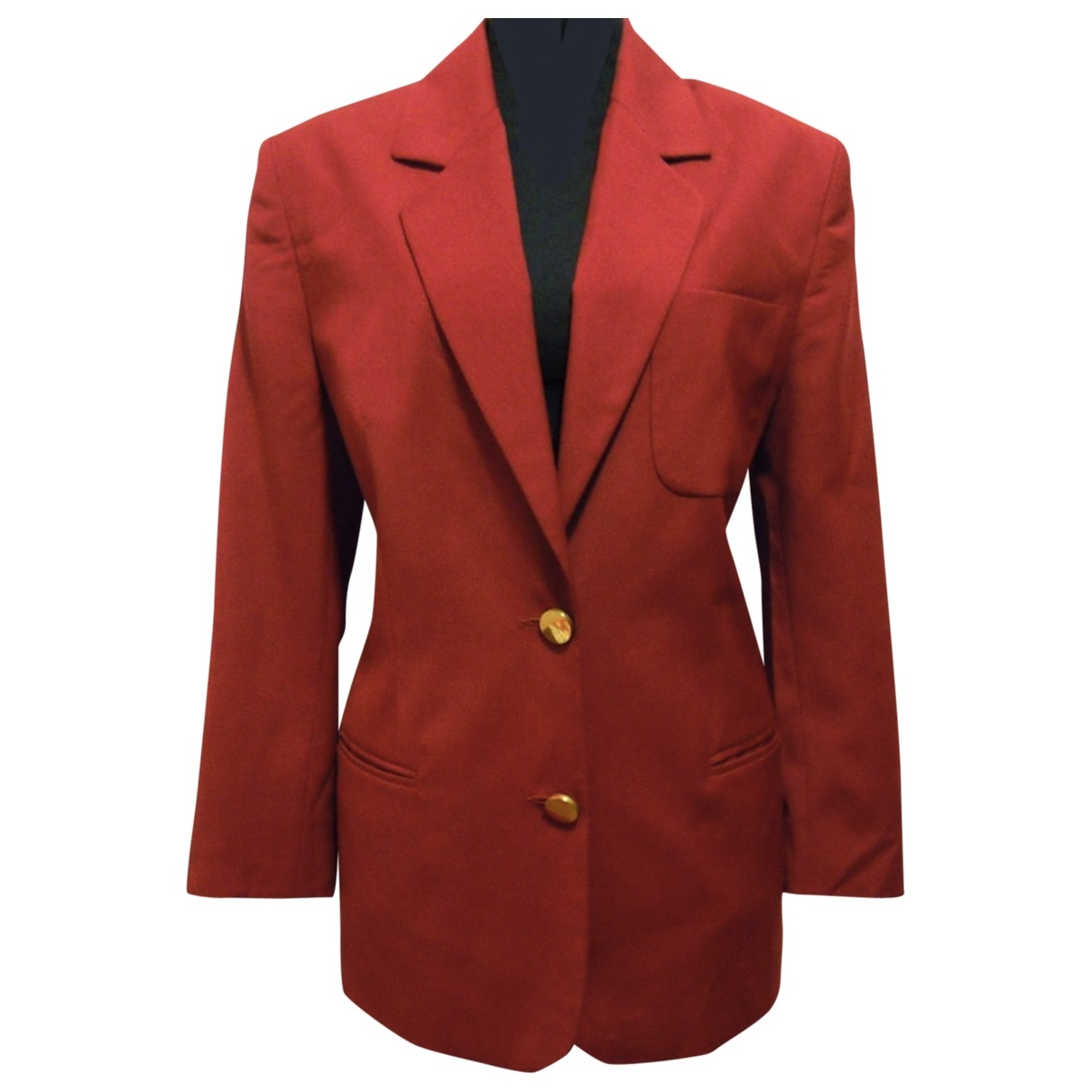 Non Signé / Unsigned \N Red Wool jacket for Women 36 FR