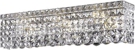 V2033W26C/RC 2033 Maxime Collection Wall Sconce L:26In H:6.25In E:4.5In Lt:6 Chrome Finish (Royal Cut