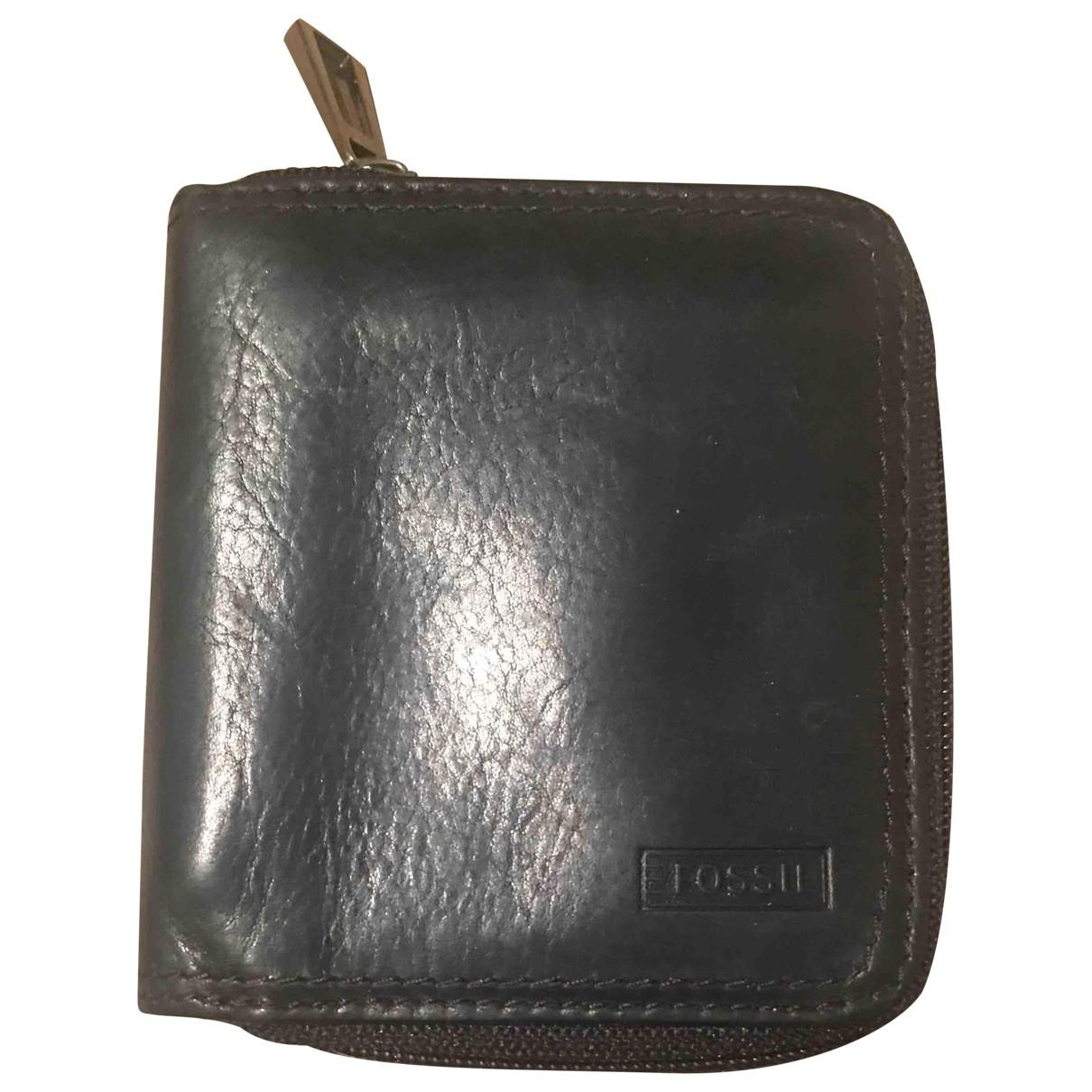 Fossil - Petite maroquinerie   pour femme en cuir - noir