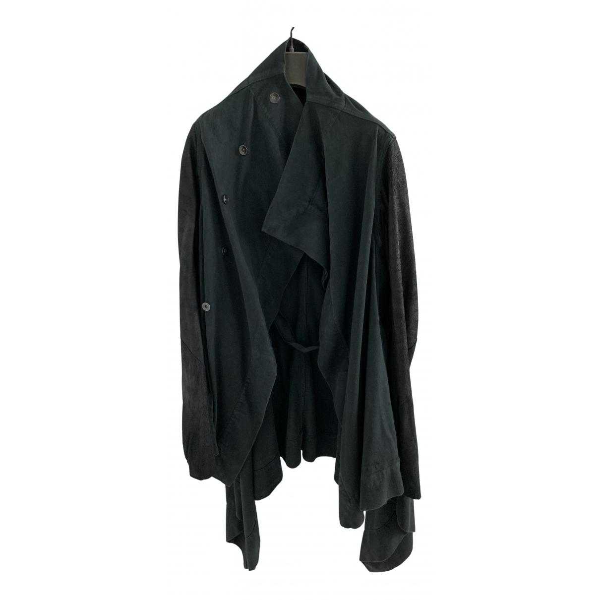 Rick Owens Drkshdw - Manteau   pour femme en coton - noir