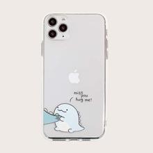 iPhone Schutzhuelle mit Karikatur & Buchstaben Grafik