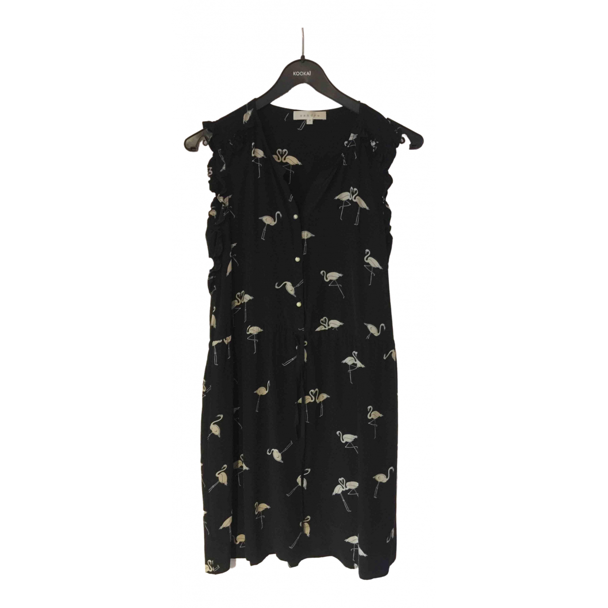 Sandro \N Black Silk dress for Women 36 FR