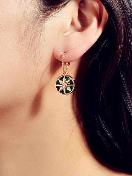 Milanoo Vintage Earrings Green Women Jewelry Gift For Her