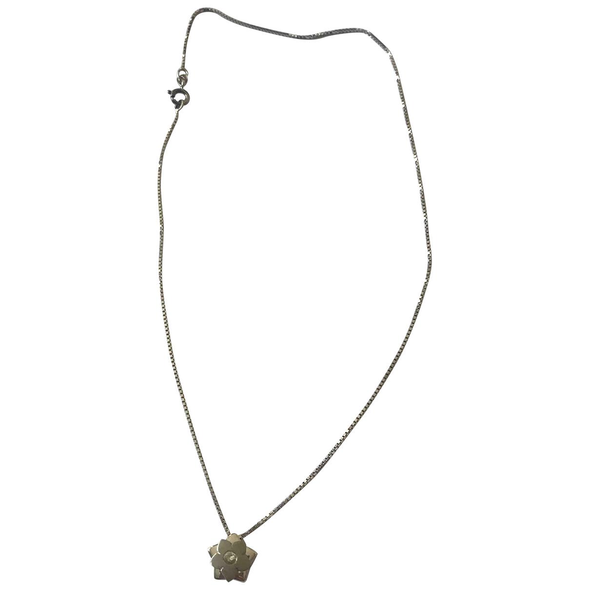 - Collier Motifs Floraux pour femme en argent - blanc