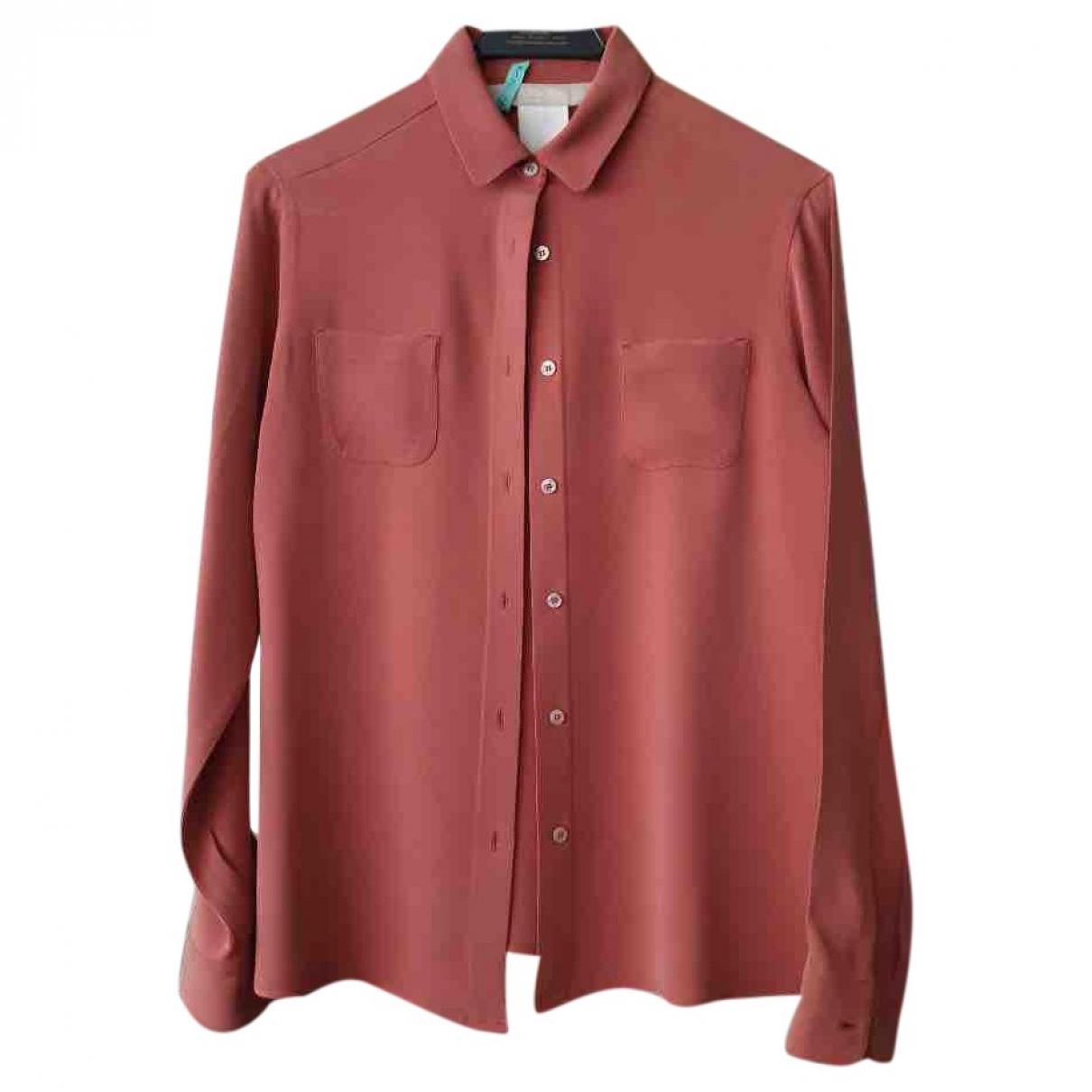 Max Mara \N Pink Silk  top for Women 36 FR