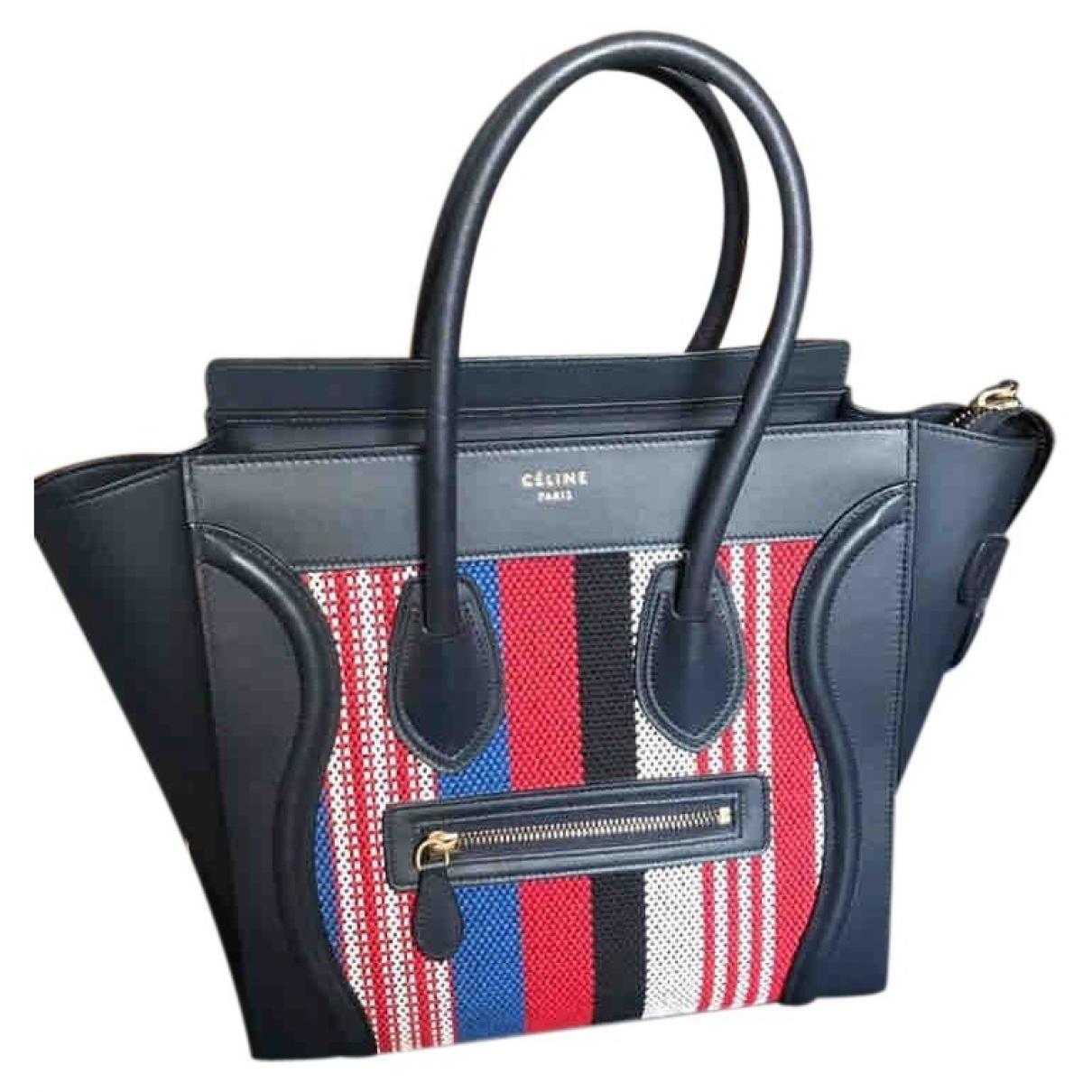 Celine - Sac a main Luggage pour femme en cuir - marine