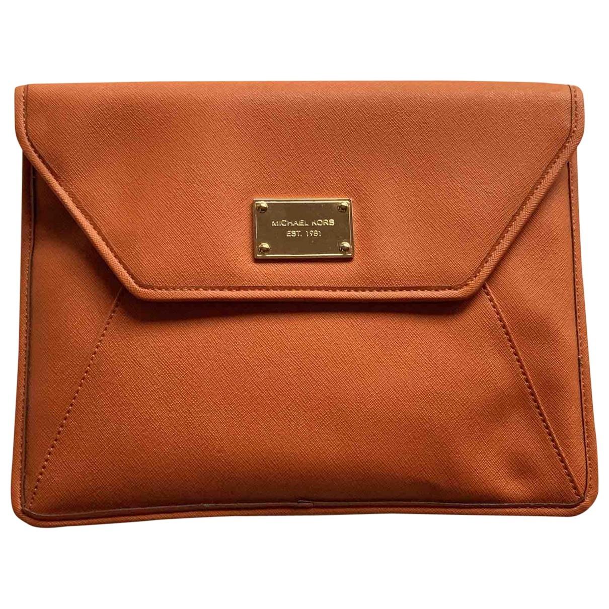 Michael Kors - Pochette   pour femme en cuir - orange