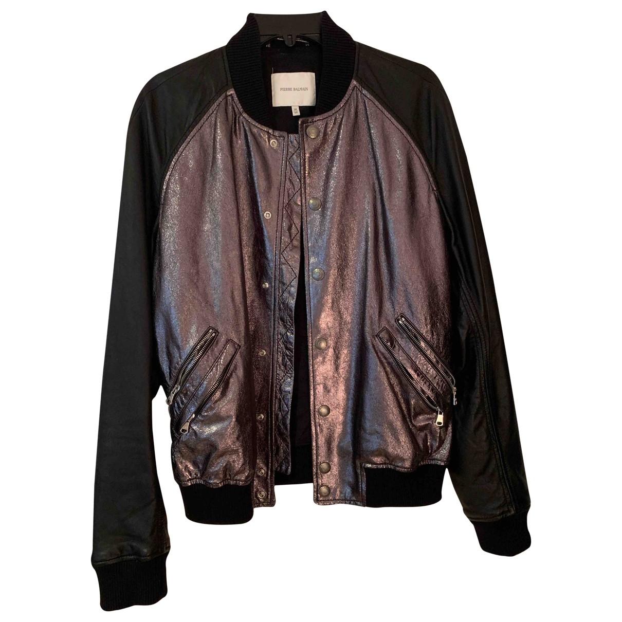 Balmain \N Black Leather jacket  for Men M International