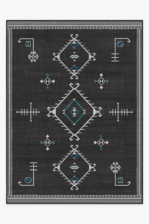 Washable Rug Cover & Pad | Damali Charcoal Rug | Stain-Resistant | Ruggable | 9x12
