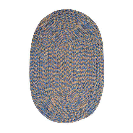 Colonial Mills Modern Trends Chenille Braided Oval Reversible Indoor Rugs, One Size , Blue