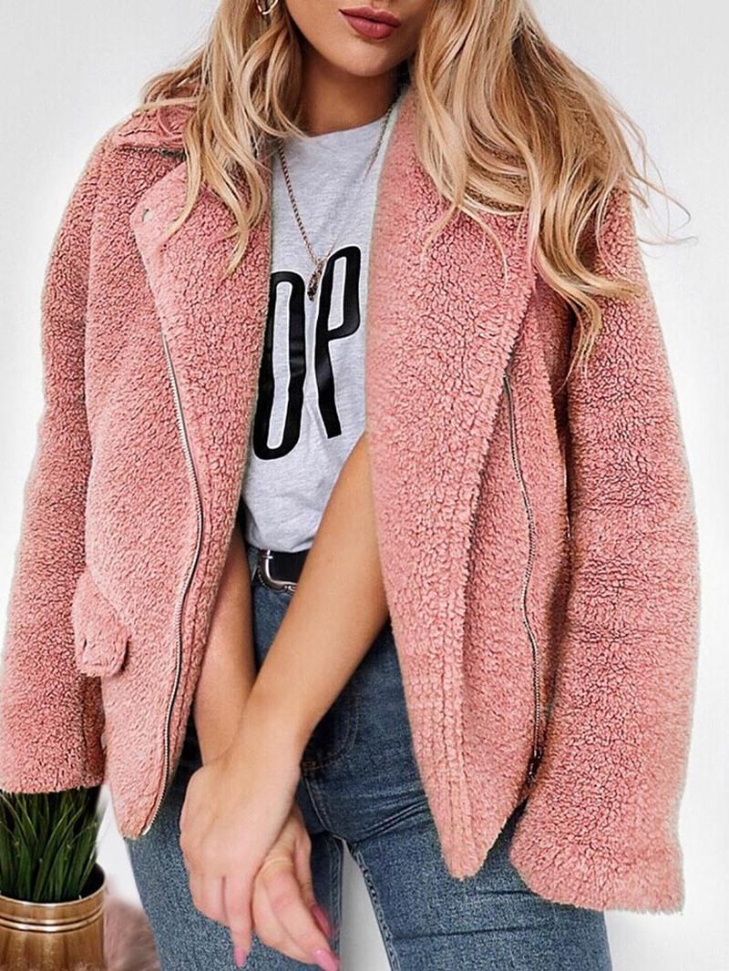 Ericdress Regular Zipper Loose Winter Standard Women's Overcoat