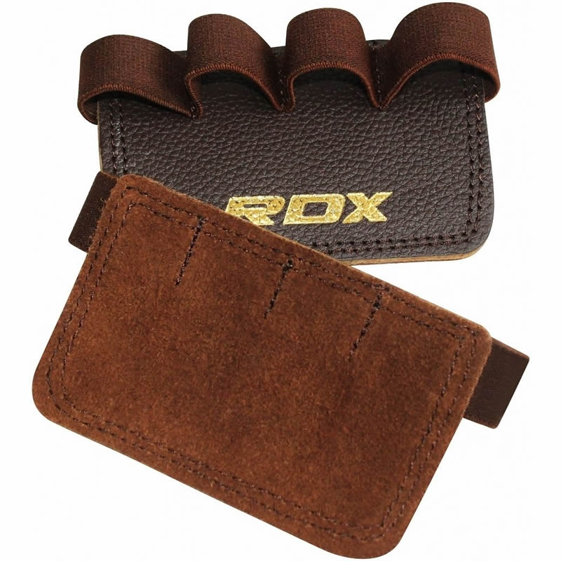 RDX G3 Grip Power Pads Gym Leather Brown