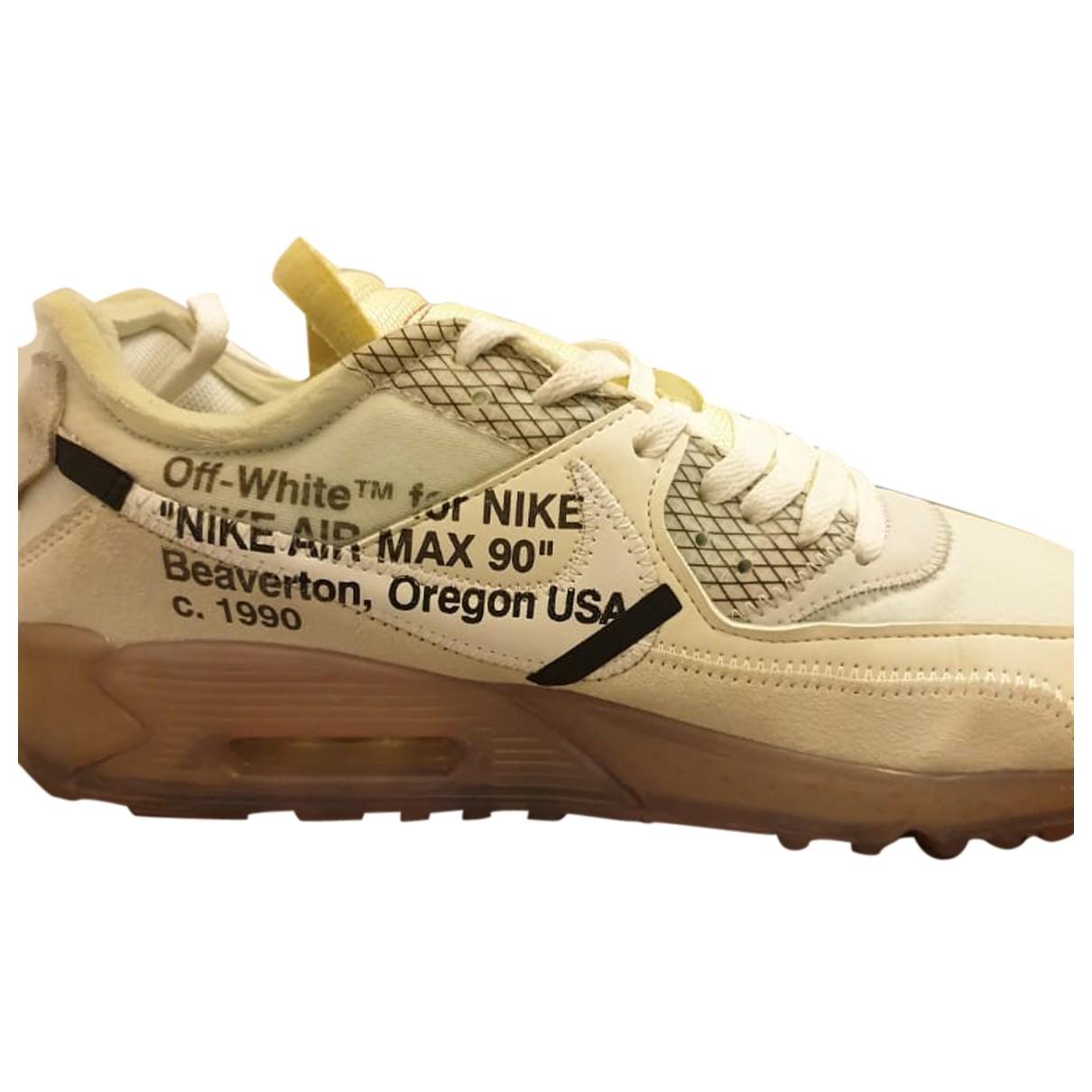 Nike X Off-white - Baskets Air Max 90 pour homme en cuir - multicolore