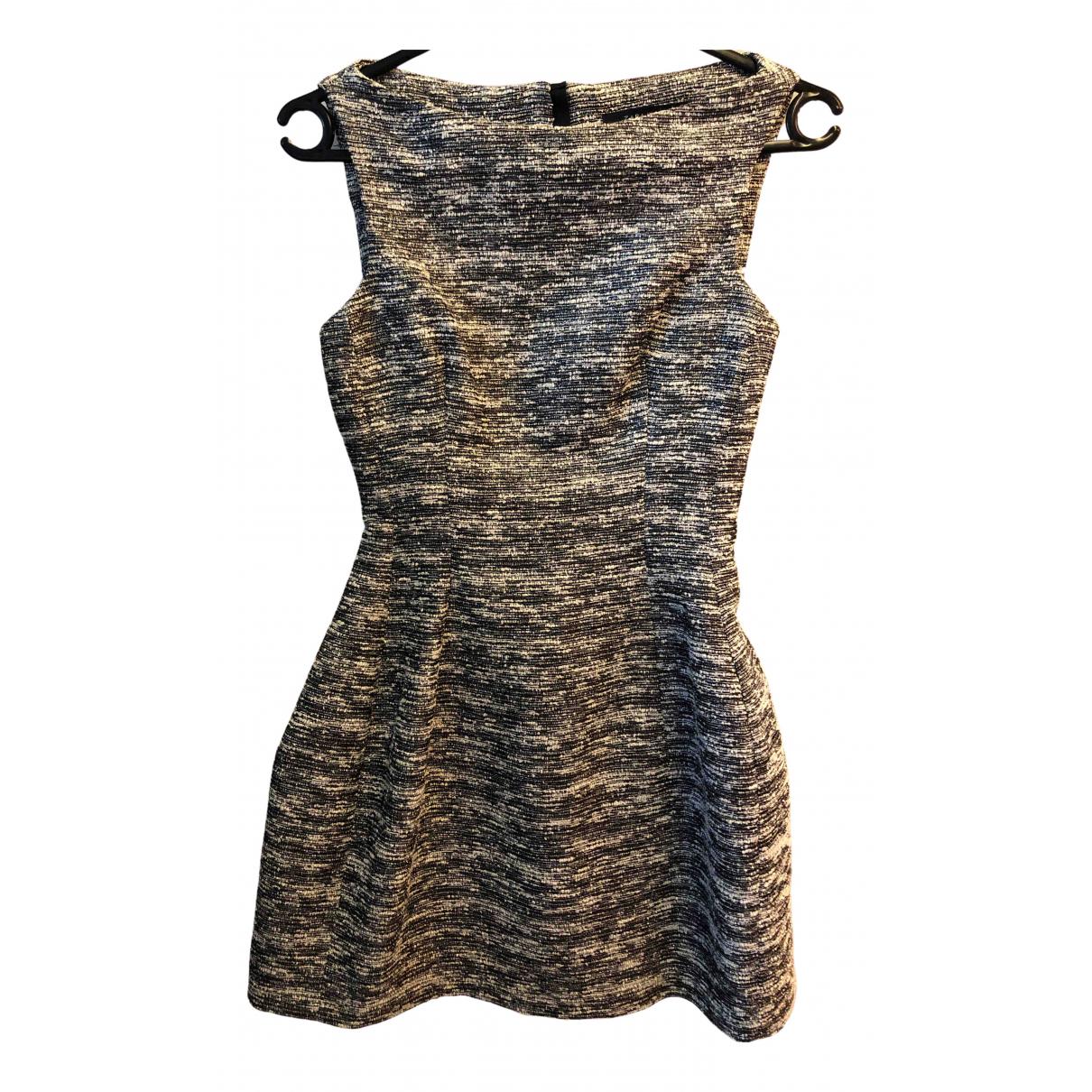 Zara \N Kleid in  Grau Synthetik