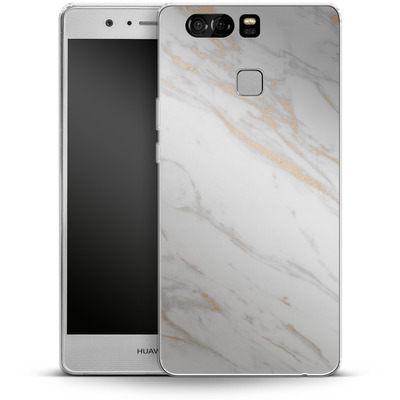Huawei P9 Silikon Handyhuelle - Gold Marble Elegance von #basic
