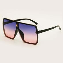Sonnenbrille mit quadratischem Acryl Rahmen