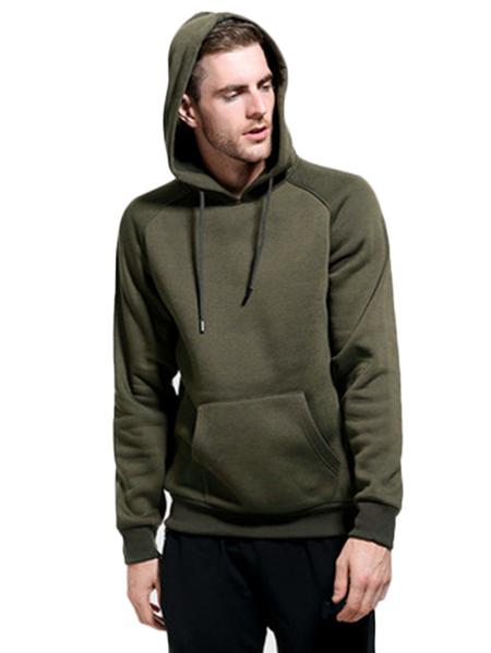 Yoins Men Autumn Big Pocket Street Fashion Casual Long Sleeve Solid Color Hoodie