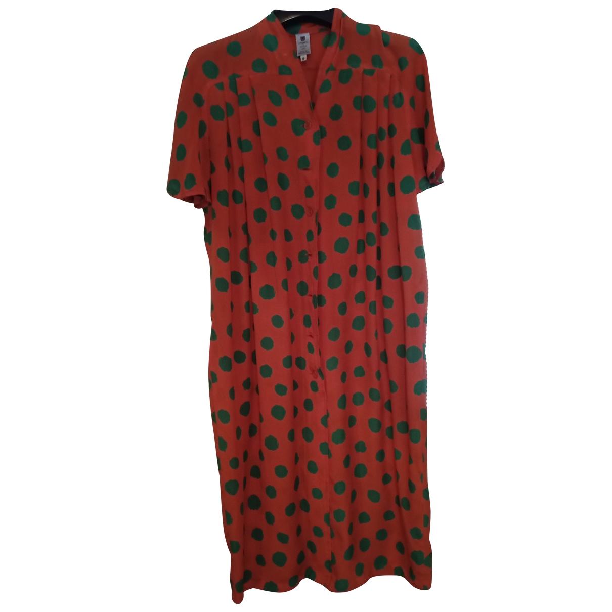 Emanuel Ungaro - Robe   pour femme en soie - rouge