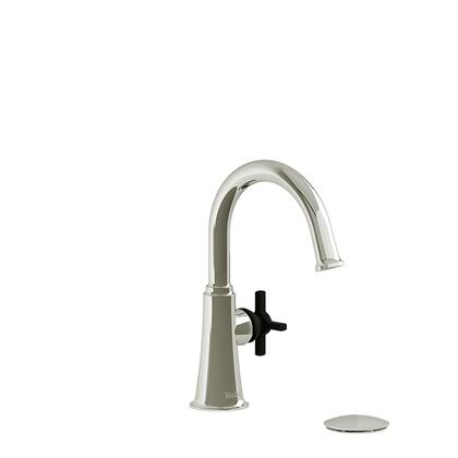 Momenti MMRDS01+PNBK-05 Single Hole Lavatory Faucet with + Cross Handle 0.5 GPM  in Polished