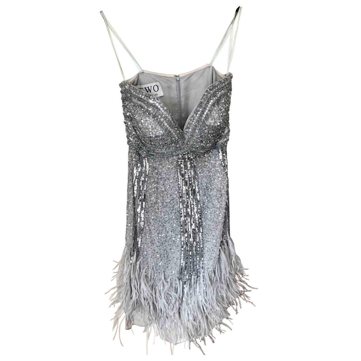 Rosa Clara \N Kleid in  Silber Mit Pailletten