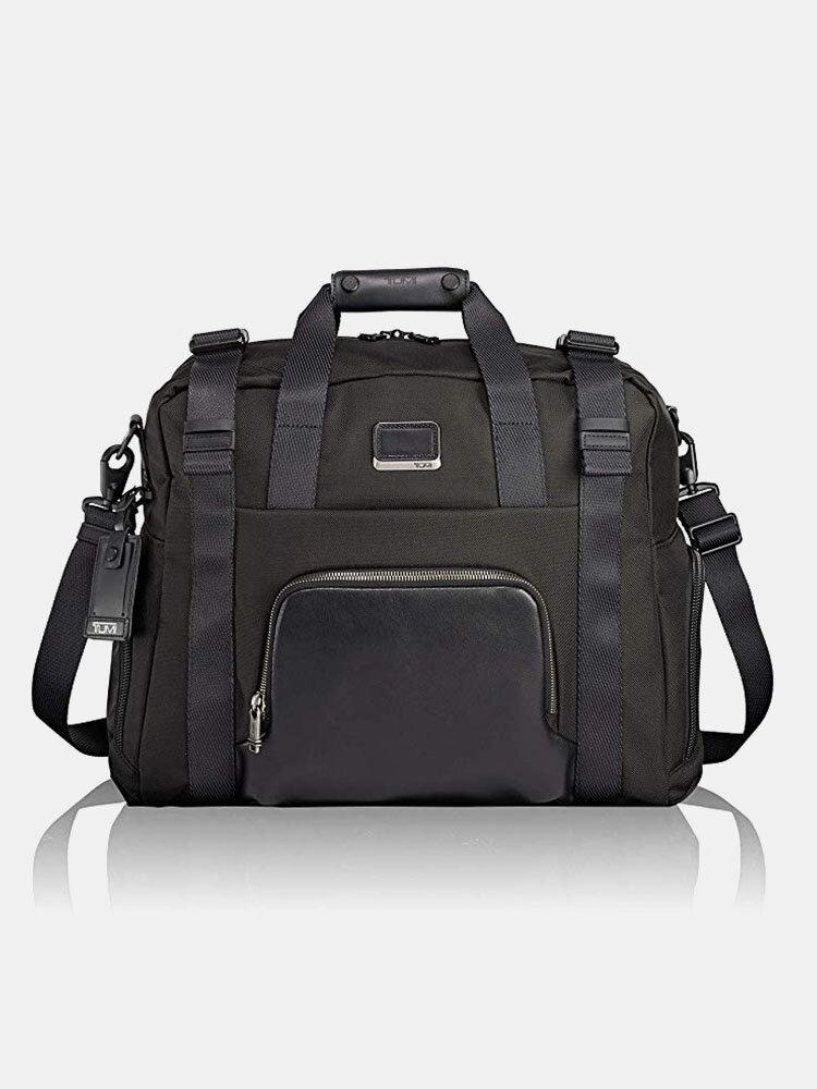 Men Multi-pocket 14 Inch Laptop Bag Briefcase Business Handbag Crossbody Bag