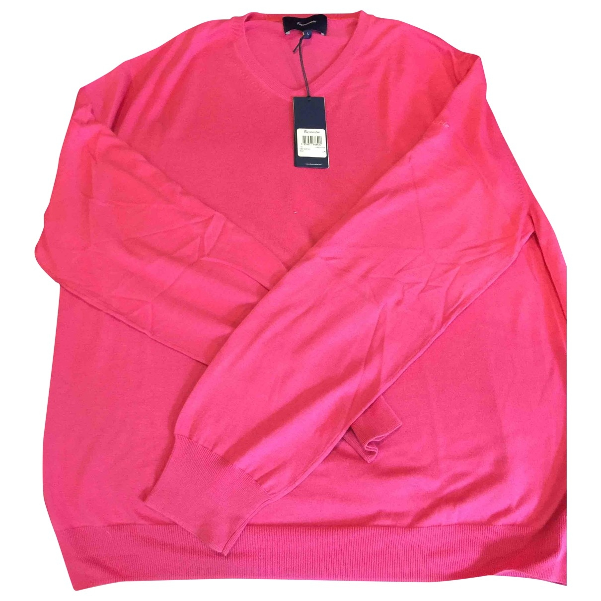 Faconnable \N Pink Cotton Knitwear & Sweatshirts for Men L International