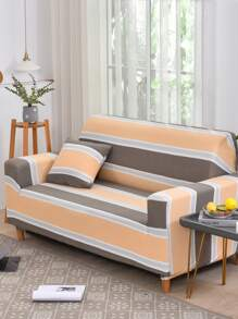 Striped Pattern Sofa Cover Without Cushion