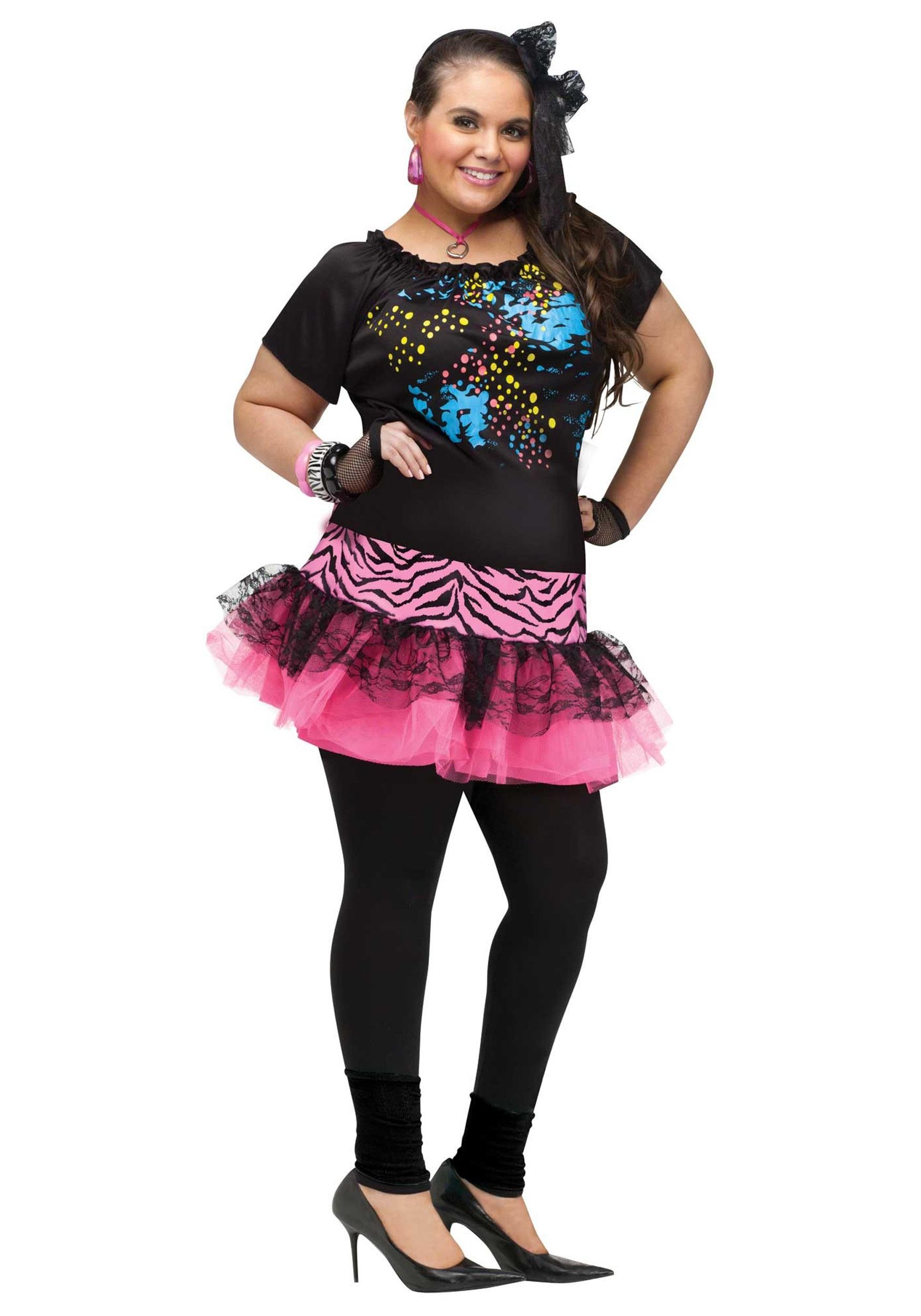Plus Size 80s Pop Party Costume