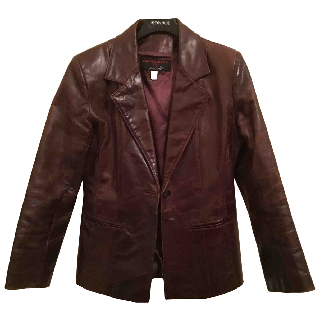 Non Signé / Unsigned \N Brown Leather jacket for Women 12 UK