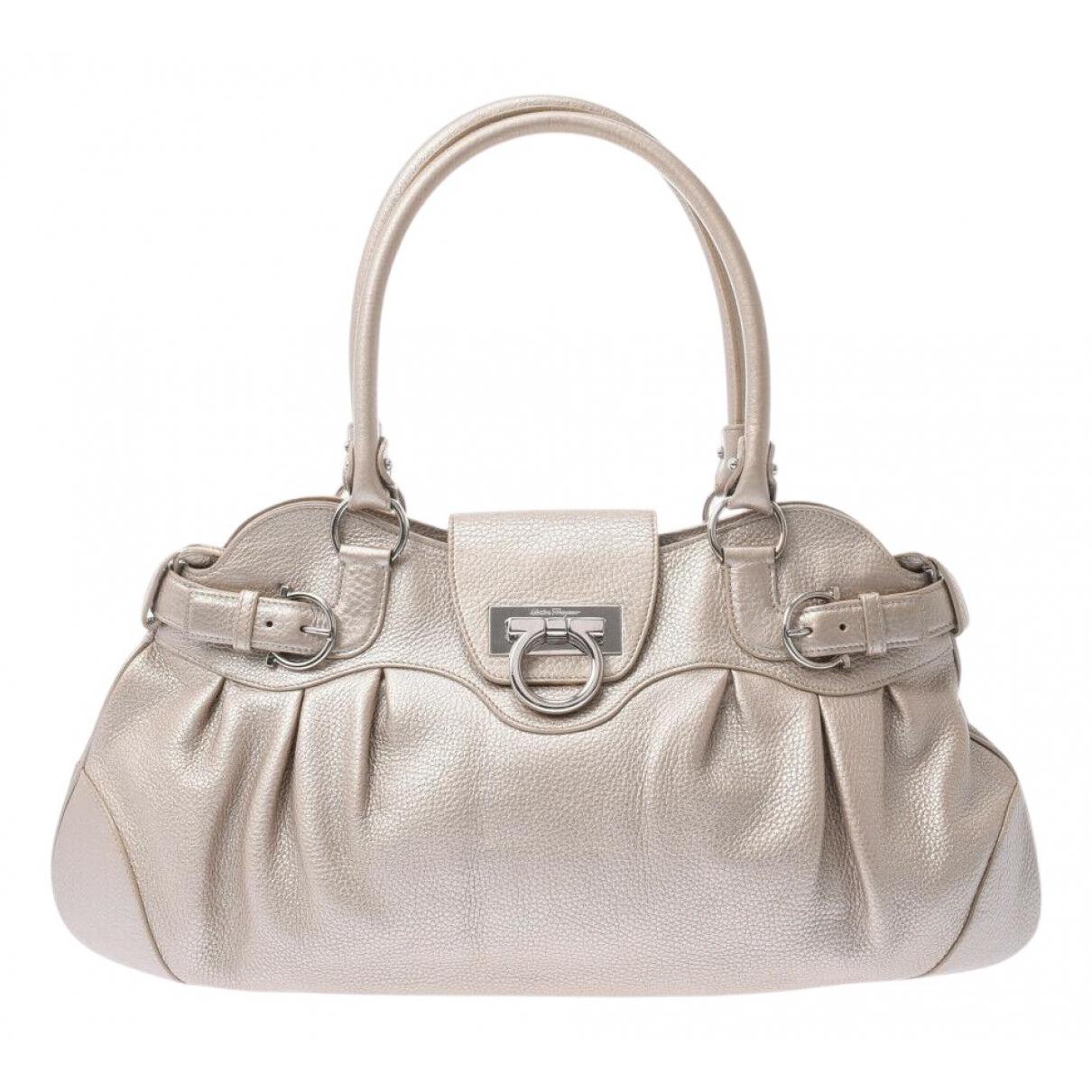 Salvatore Ferragamo N Silver Leather handbag for Women N