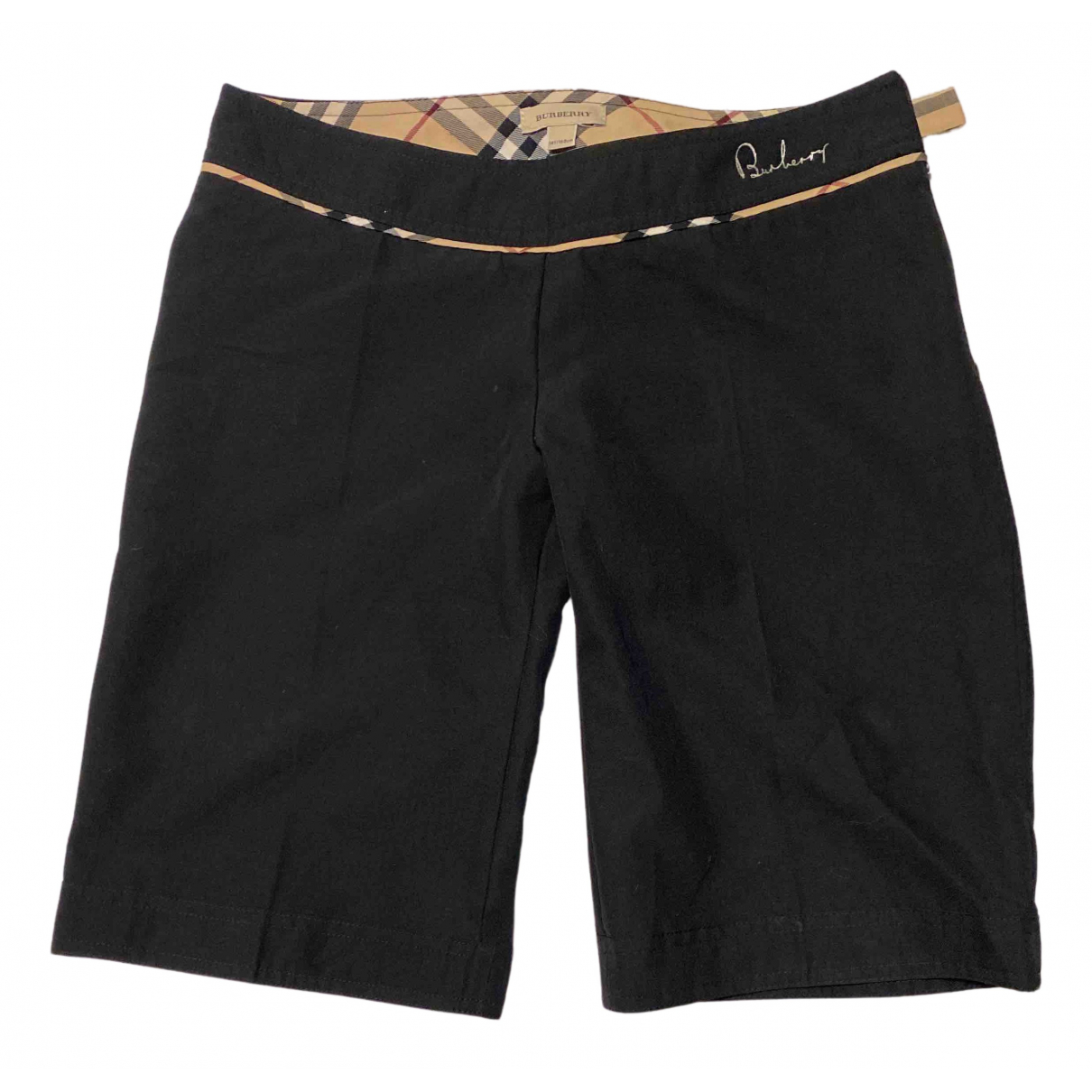 Burberry N Black Cotton Shorts for Kids 14 years - S FR