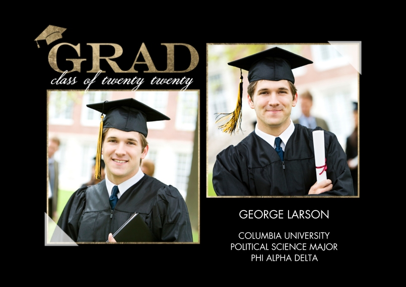 2020 Graduation Announcements 5x7 Cards, Standard Cardstock 85lb, Card & Stationery -2020 Grad Announcement by Tumbalina