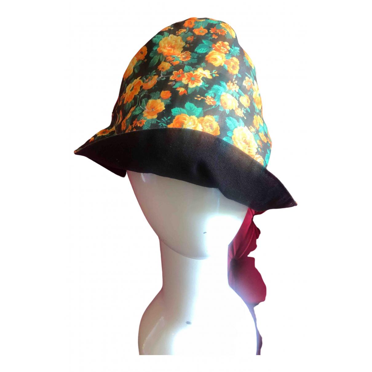 Non Signé / Unsigned \N Black Cotton hat for Women 60 cm