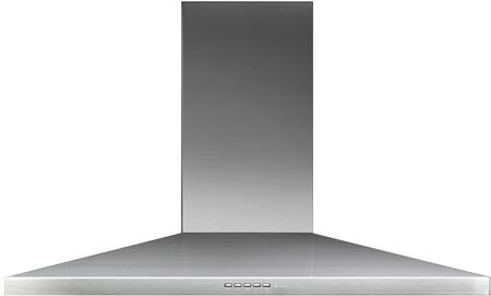 FPVUL36W3SS 36 Potenza Collection Vulcano Wall Mount Range Hood with 280 CFM  LED Lighting  3 Speed Motor and Metallic Filters in Stainless